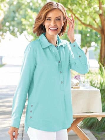 Drapey Side-Button Tunic - Image 1 of 4