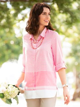 Multi-Stripe Tunic