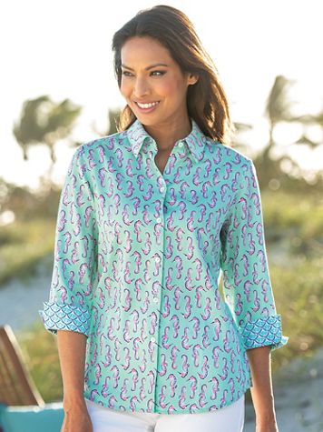 Foxcroft® Seahorse Wrinkle-Free Cotton Shirt