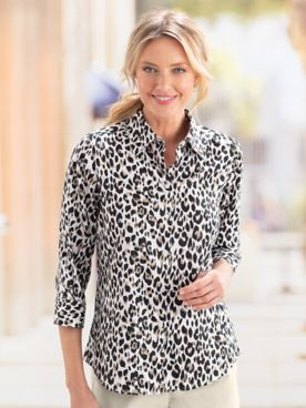 Foxcroft® Animal Print Shirt