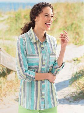 Summer Sea Striped Shirt