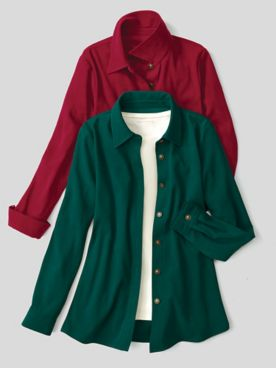Suedecloth Big Shirt Jacket