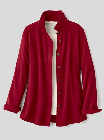 Suedecloth Big Shirt Jacket - Image 4 of 5