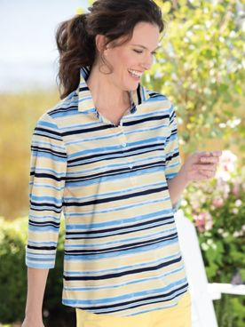 Watercolor Stripe UPF Popover
