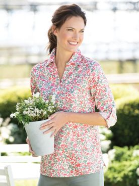 Whimsical Floral Popover Tunic