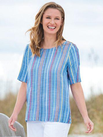 Multi-Stripe Side-Button Popover Top - Image 3 of 3