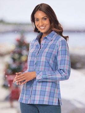 Warm & Cozy Brushed Plaid Shirt