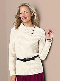 Split-Neck Sweater by Koret