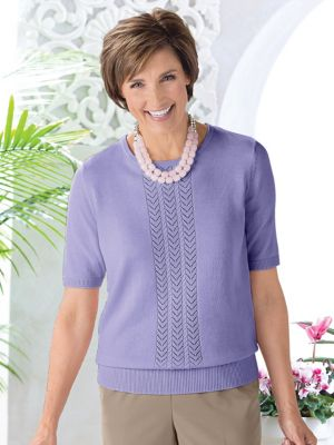 e621a3cbf3 Womens Vicki Wayne Textured Knit T-Top
