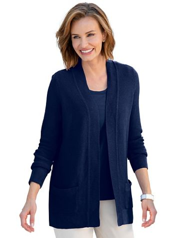Seedstitch Open-Front Cardigan Sweater - Image 1 of 9