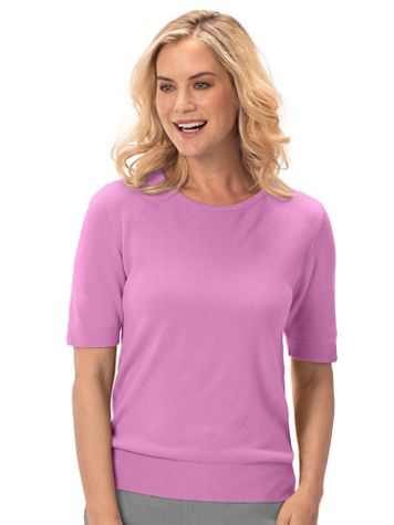 Spindrift™ Soft Short-Sleeve Sweater Shell - Image 1 of 18