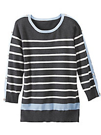 Striped Pullover Sweater by Koret