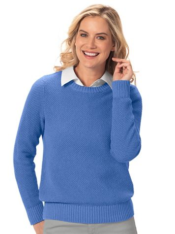 Seedstitch Pullover Sweater - Image 1 of 18