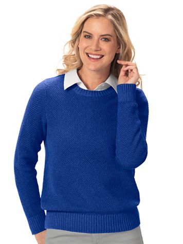 Seedstitch Pullover Sweater - Image 1 of 6