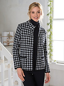 1950s Style Coats and Jackets Boiled Wool Houndstooth Jacket $19.97 AT vintagedancer.com