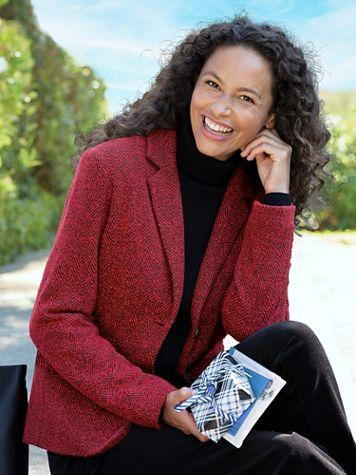 Herringbone Knit Jacket - Image 1 of 12