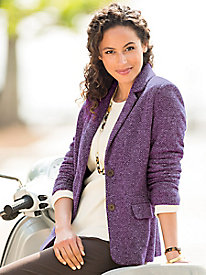 Herringbone Knit Jacket