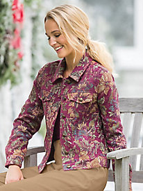 Chenille Tapestry Jean Jacket