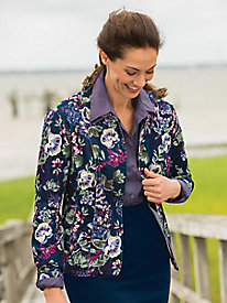 Floral Stretch Pincord Jacket