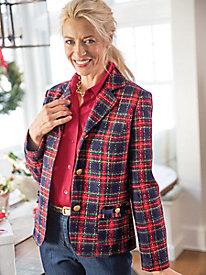 Holiday Plaid Jacket