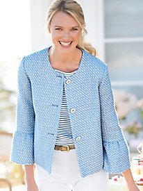 Bell-Sleeve Tweed Jacket