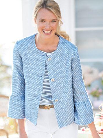 Bell-Sleeve Tweed Jacket - Image 2 of 2