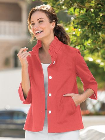 Ruffle Collar Jacket - Image 1 of 3
