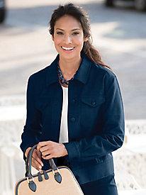 Linen Texture Jean Jacket