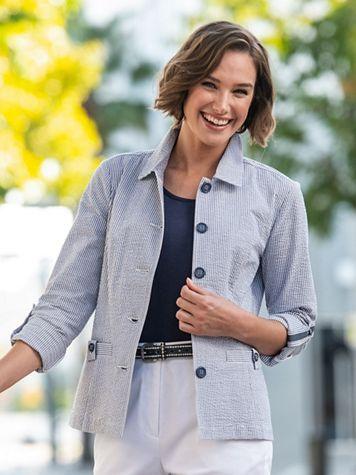 Seersucker Stripe Jacket