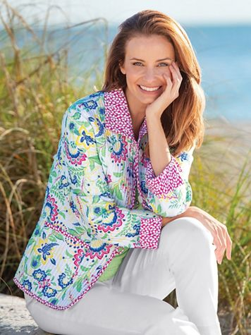 Quilted Reversible Jacobean Jacket - Image 5 of 5
