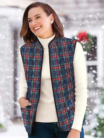 Quilted Tartan Vest - Image 1 of 4