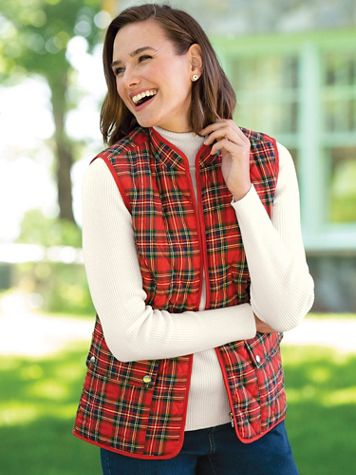 Quilted Tartan Vest - Image 4 of 4