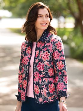 Limited-Edition Signature Floral Reversible Jacket