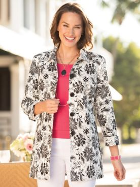 Signature Floral Fingertip Jacket