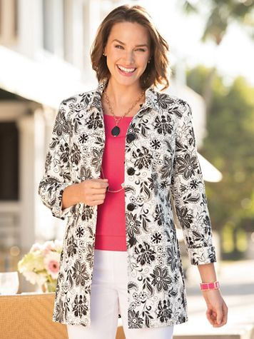 Signature Floral Fingertip Jacket - Image 3 of 3