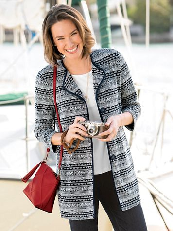 Jaquard Knit Jacket - Image 3 of 3
