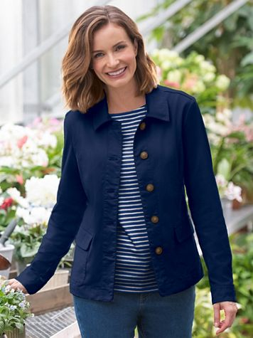 Anywhere Cotton Stretch Twill Jacket - Image 1 of 11
