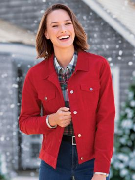 Stretch Cotton Pincord Jean Jacket