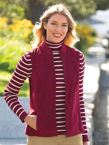 Suedecloth Zip-Front Vest - Image 5 of 5