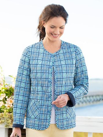 Plaid Reversible Quilted Jacket - Image 3 of 3