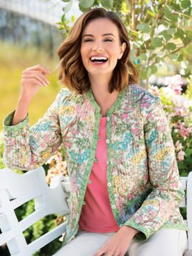 Wildflower Reversible Quilted Jacket