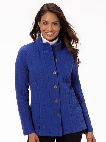 Cable Textured Knit Jacket - Image 3 of 3
