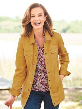 DreamFlex Long Colored Jean Jacket