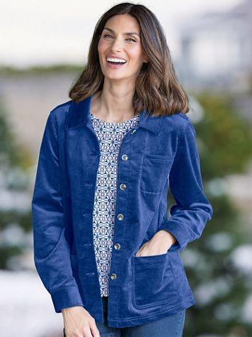 Stretch Wide-Wale Corduroy Shirt Jacket - Image 1 of 11