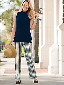 Travel Crinkle Striped Pants