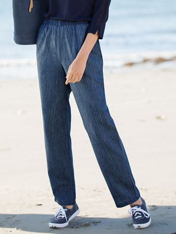 Striped Tencel Denim Pants