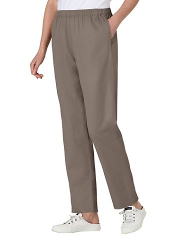 Tencel®/Cotton Denim Elastic-Waist Pants - Image 4 of 8
