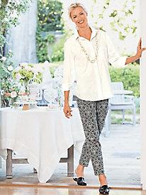 Slim-Sation Jacquard Ankle Pants