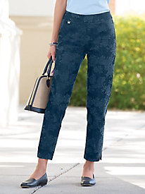 Slim-Sation Printed Denim Ankle Pants