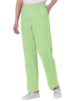 Seersucker Stripe Elastic Waist Pants Appleseed S